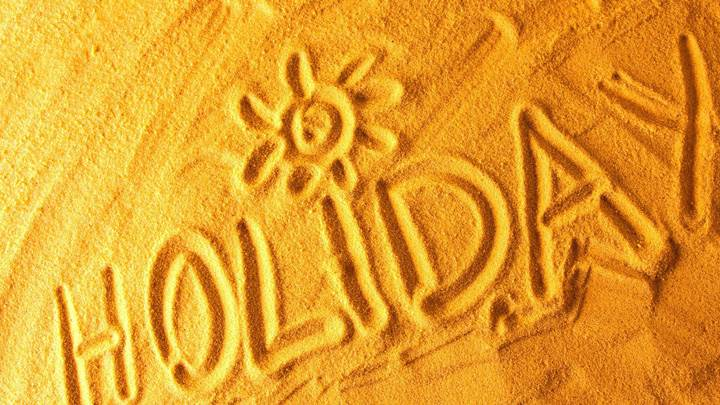 Holiday Is Written On Sand